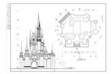 欧式教堂建筑设计CAD图纸