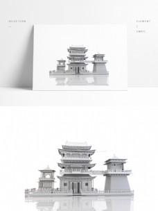 中国风城关霸气古建筑