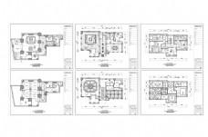 欧式装修风格别墅CAD图纸