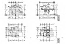 豪华别墅欧式风格设计CAD施工图纸