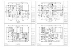 别墅欧式风格CAD施工图