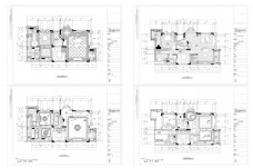 别墅欧式风格豪装CAD施工图