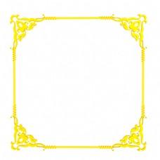 C4D立体复古欧式边框