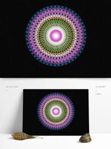 创意炫彩动感抽象线条形状纹理装饰图案