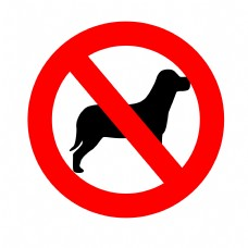 禁止宠物入内图标