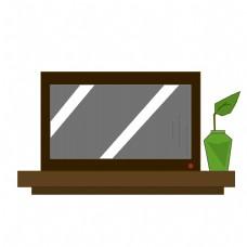 电视机花瓶家具