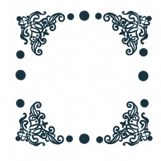 墨色古典花纹边框