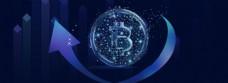蓝色区块链科技宣传banner