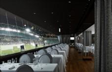 球场餐厅模型