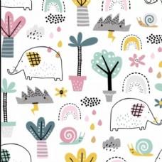 大象树叶壁纸