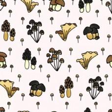 蘑菇满印壁纸