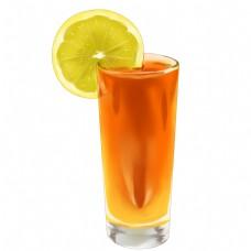 卡通橘黄色果汁