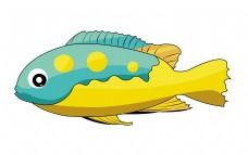 绿黄色鱼类图案