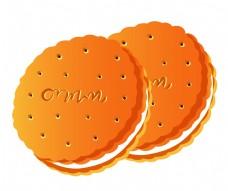 两个夹心饼干