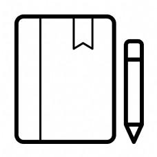 黑色圆角创意书籍元素