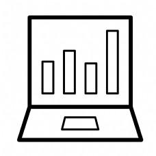 黑色创意数据笔记本元素