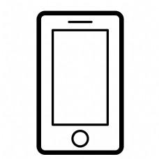 黑色圆角科技手机元素