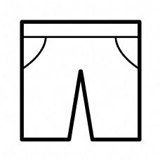 黑色创意短裤元素