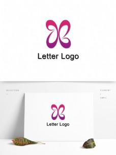 X字母logo设计
