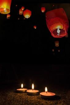 祈福灯笼背景图片