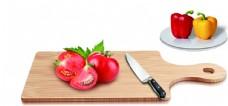 菜板 砧板 盘子 青椒