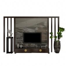 中式复古电视背景墙