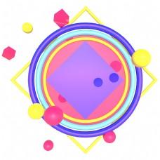 紫色几何背景板