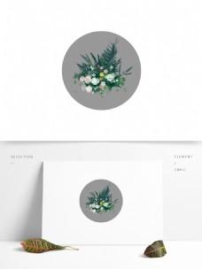 婚礼效果图路引清新花丛花艺绘制