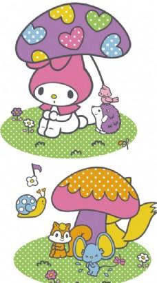 美乐蒂 可爱 兔子