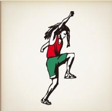 音乐 舞蹈 插画 乐器 壁画