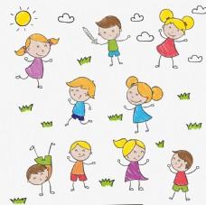 手绘儿童插图