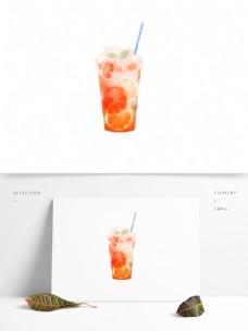透明图层手绘饮品