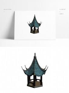 古典中式亭子沁心亭