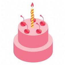 粉色的卡通蛋糕食物