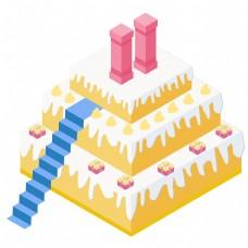 巨大的卡通蛋糕