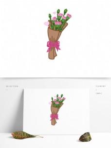 粉色康乃馨花束母亲节祝福素材