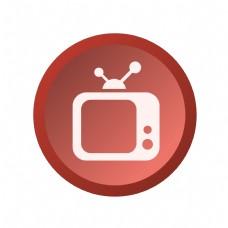 卡通电视图标免抠图