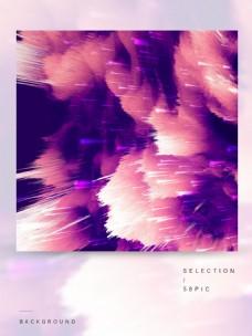原创时尚紫色抽象放射背景