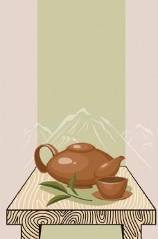 茶文化 背景图