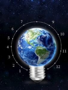 地球电灯创意