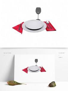 西式餐刀盘免抠元素