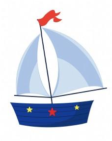 蓝色星星帆船