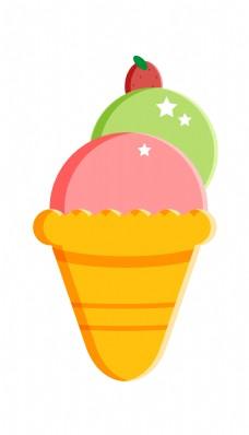 星星水果冰淇淋