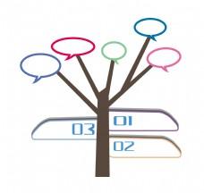 树木图案PPT装饰