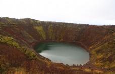 冰岛火山坑