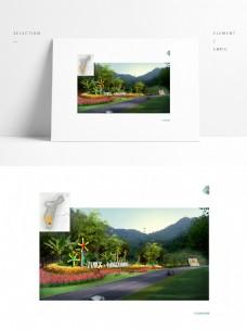 道路绿化景观小品SU模型效果图