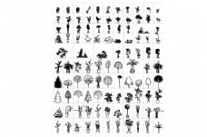 景观常用树CAD立面图库