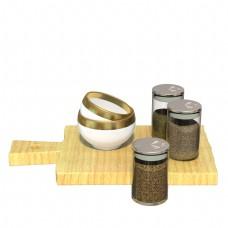 厨房调料罐和饭碗
