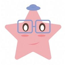 可爱粉色星星