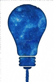 蓝色灯泡电灯